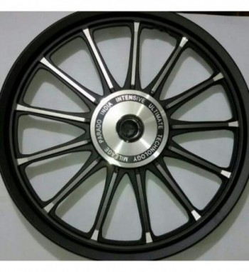 "13 spoke alloy wheel royal erado standard front rear 19""drum broad wheel base"