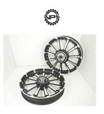 bikes standard drum brake 11 spokes rajputana design black alloy wheels