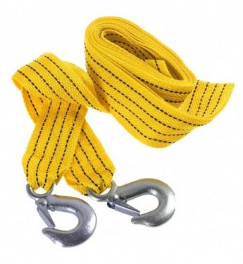 Orange 3 Tons 4 Meter Flsorescence Universal Car Tow Cable Towing Strap Rope with Hooks