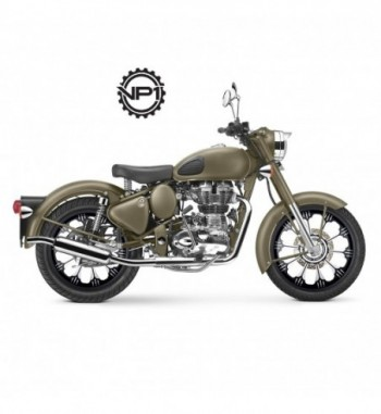 Royal Enfield Bullet Classic Battle Green Royal Enfield Bullet Classic Chrome (Set of 2)