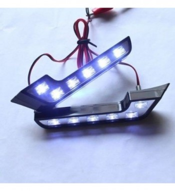 2Pcs 6-LED L Shape Car Daytime Running Light 12V DC