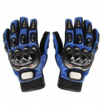 Pro Biker Full Racing Biking Driving Motorcycle Gloves - Blue XL