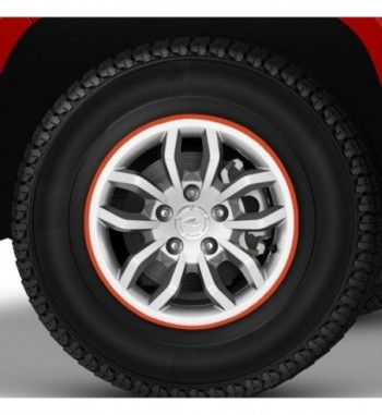 14-16 Inch Car Rim Stickers for 4 Rims-Orange