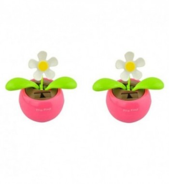Flip Flap Dancing Solar Powered Sun Flower Plant - Set of 2