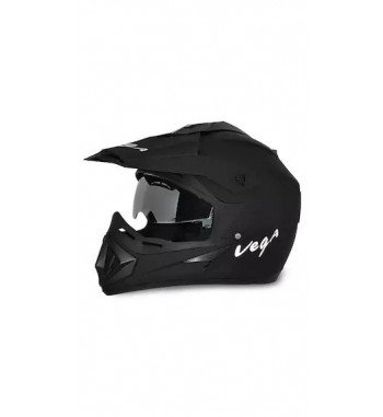 Vega Off Road DV Dull Full Face Helmet Black