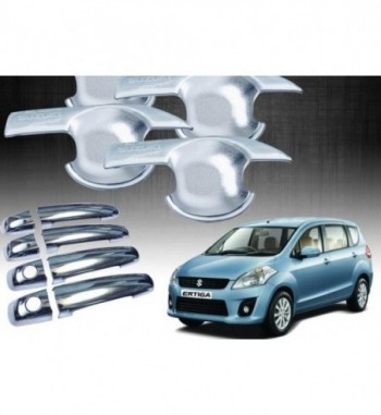 Chrome Handle Bowl Insert Trim Cover For - ME Maruti Ertiga Car Door Handle  (Pack of 8)