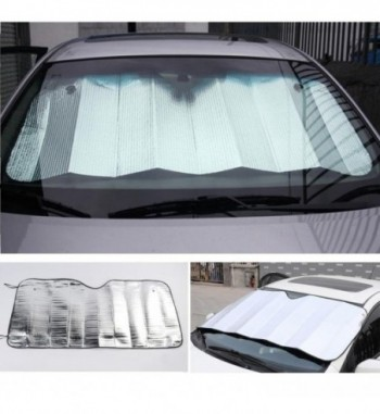 Front Windshield Car Window Foldable Sun Visor Shade Shield Sunshade Cover Block Parts Silver Color