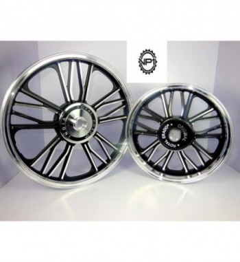 Alloy Wheels for Royal Enfield Electra 19''/19''(Set of 2, Black)
