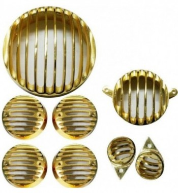 Head light Heavy Grill and Indicator Grill and Tail Light Gold (8pcs)