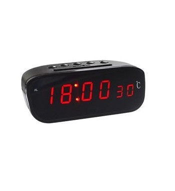Car Dashboard Digital Red LED Clock